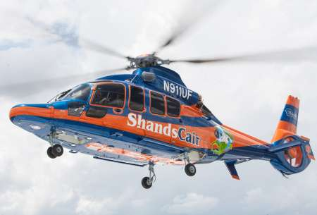 UF Health Shands Cair EC-155 helicopter